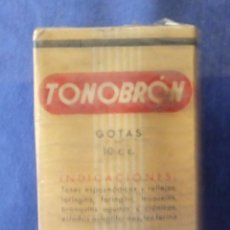 Coleccionismo: == A55 - ANTIGUO BOTE DE GOTAS PARA LA TOS TONOBRÓN - LABORATORIOS LABEN - PRECINTADO. Lote 137840446