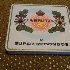 Coleccionismo: CAJA DE LATA PURITOS SUPER REDONDOS LA BELLEZA . Lote 137903642