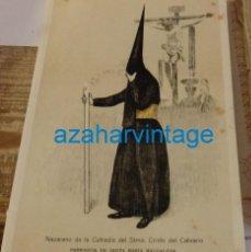 Coleccionismo: SEMANA SANTA SEVILLA, 1924, NAZARENO DEL CALVARIO, FRANCISCO HOHENLEITER,150X215MM. Lote 137959750