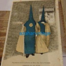 Coleccionismo: SEMANA SANTA SEVILLA, 1924, NAZARENOS DE LA HINIESTA, FRANCISCO HOHENLEITER,150X215MM. Lote 137960434