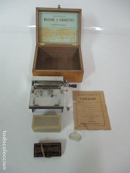 MAQUINA DE LIAR CIGARRILLOS FRANCESA - TABACO - MACHINE LEMAIRE - CON CAJA E INSTRUCCIONES (Coleccionismo - Objetos para Fumar - Otros)