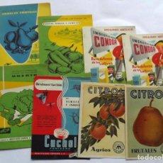 Coleccionismo: LOTE DE 8 LÁMINAS PUBLICITARIAS AÑOS 60, CITROL, CUCHOL, INSECTICIDAS CONDOR. Lote 138552194