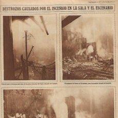 Coleccionismo: AÑO 1928 RECORTE PRENSA CATASTROFE INCENDIO TEATRO NOVEDADES DE MADRID. Lote 138719026