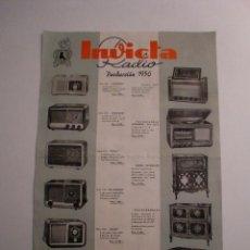 Coleccionismo: RADIO INVICTA PRODUCCION 1950 - LISTA GENERAL DE EMISORAS DE ONDA NORMAL. Lote 147919313