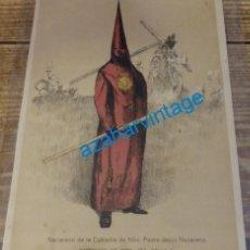 Coleccionismo: SEMANA SANTA SEVILLA, 1924, NAZARENO DE LA O, FRANCISCO HOHENLEITER,150X215MM. Lote 139020242