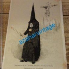 Coleccionismo: SEMANA SANTA SEVILLA, 1924, NAZARENO DE LA HERMANDAD DEL AMOR, FRANCISCO HOHENLEITER,150X215MM. Lote 139020722