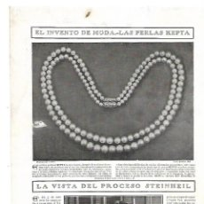 Coleccionismo: AÑO 1909 RECORTE PRENSA PUBLICIDAD PERLAS KEPTA COLLAR. Lote 139121822