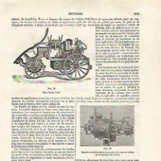 Coleccionismo: LAMINA ESPASA 30339: BOMBAS DE INCENDIOS. Lote 139186082