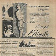 Coleccionismo: AÑO 1927 RECORTE PRENSA PUBLICIDAD CORSE LÀBEILLE ABEILLE. Lote 139204898