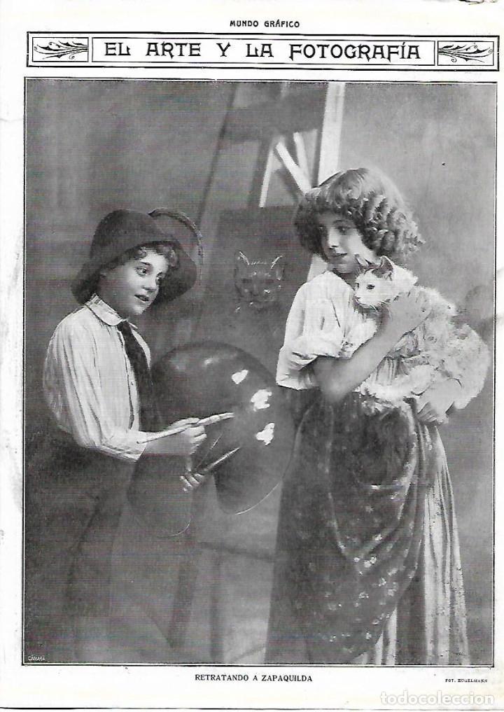 Ano 1915 Recorte Prensa Arte Y Fotografia Retra Comprar Documentos