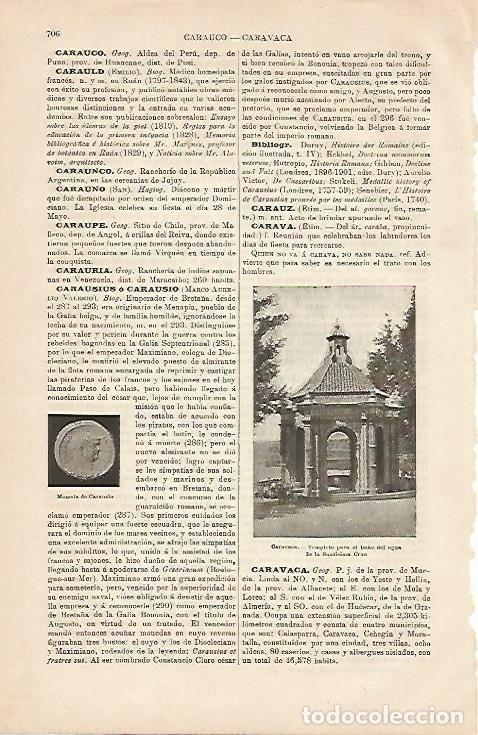 LAMINA ESPASA 4284: TEMPLETE DE CARAVACA MURCIA (Coleccionismo - Laminas, Programas y Otros Documentos)