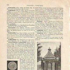 Coleccionismo - LAMINA ESPASA 4284: Templete de Caravaca Murcia - 139286336