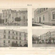 Coleccionismo: LAMINA ESPASA 11536: VISTAS DE MURCIA. Lote 139286536