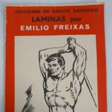Coleccionismo: LECCIONES DE DIBUJO ARTISTICO. LAMINAS POR EMILIO FREIXAS. 1964. Lote 139392722