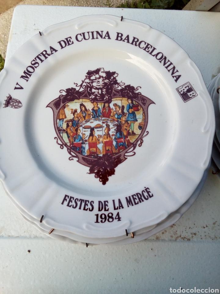 Coleccionismo: Bestial lote 18 platos feria gastronomica la merçe merce barcelona 80/97 - Foto 5 - 139402066