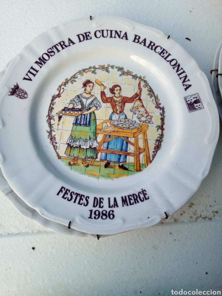 Coleccionismo: Bestial lote 18 platos feria gastronomica la merçe merce barcelona 80/97 - Foto 7 - 139402066