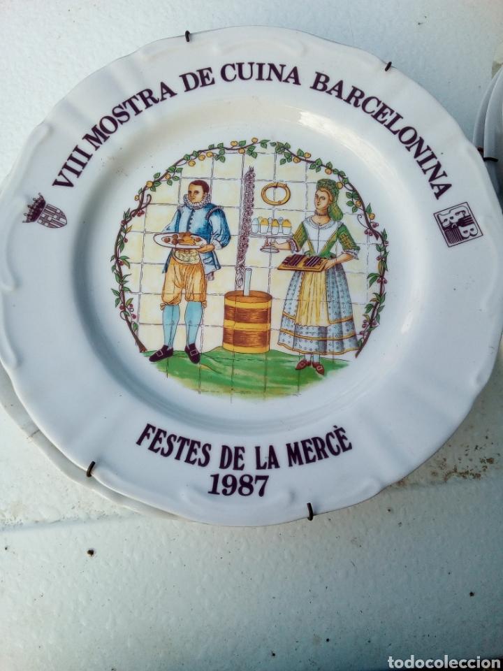 Coleccionismo: Bestial lote 18 platos feria gastronomica la merçe merce barcelona 80/97 - Foto 8 - 139402066