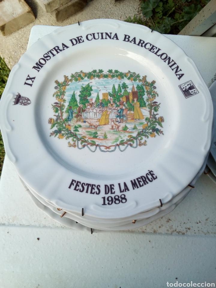 Coleccionismo: Bestial lote 18 platos feria gastronomica la merçe merce barcelona 80/97 - Foto 9 - 139402066
