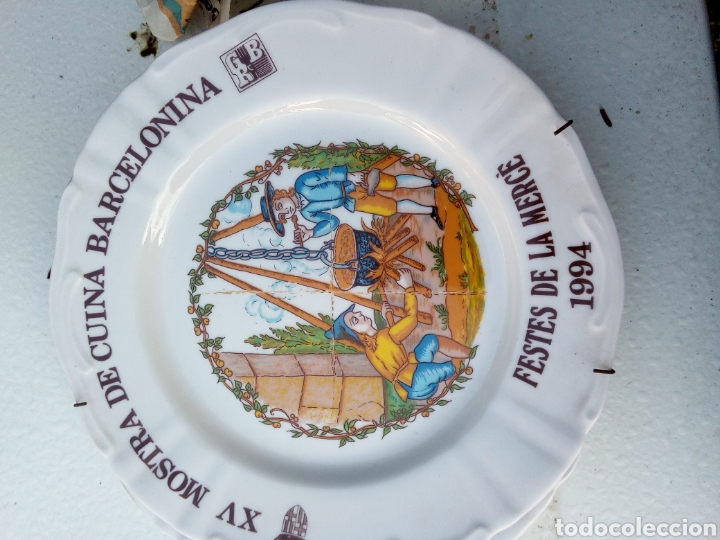 Coleccionismo: Bestial lote 18 platos feria gastronomica la merçe merce barcelona 80/97 - Foto 15 - 139402066