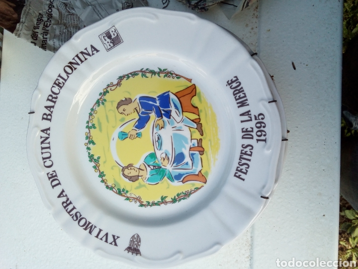 Coleccionismo: Bestial lote 18 platos feria gastronomica la merçe merce barcelona 80/97 - Foto 16 - 139402066