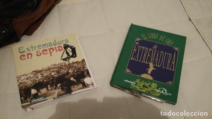 LIBRO EXTREMADURA- SEPIA - LIBRO DE POSTALES PEGADAS - HISTORICO (Coleccionismo - Varios)
