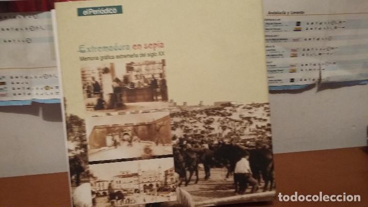 Coleccionismo: Libro EXTREMADURA- SEPIA - LIBRO DE POSTALES PEGADAS - HISTORICO - Foto 3 - 139446110