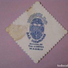 Coleccionismo: POSAVASOS BAR HAWAIANO WAWALAG. MADRID. . Lote 139453450
