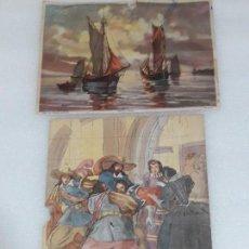 Coleccionismo: LOTE ANTIGUAS LAMINAS GRABADOS. Lote 139508726