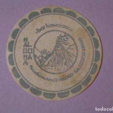 Coleccionismo: POSAVASOS BAR HAWAIANO MAUNA LOA. MADRID.. Lote 139557610