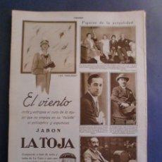 Coleccionismo: 09/10/1929 JABÓN LA TOJA - GABRIELA MISTRAL - MONTES ITURRIOZ - MADRID ATHLETIC FUTBOL. Lote 139710398