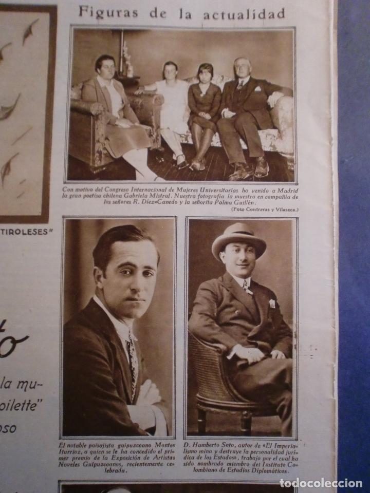 Coleccionismo: 09/10/1929 JABÓN LA TOJA - GABRIELA MISTRAL - MONTES ITURRIOZ - MADRID ATHLETIC FUTBOL - Foto 2 - 139710398