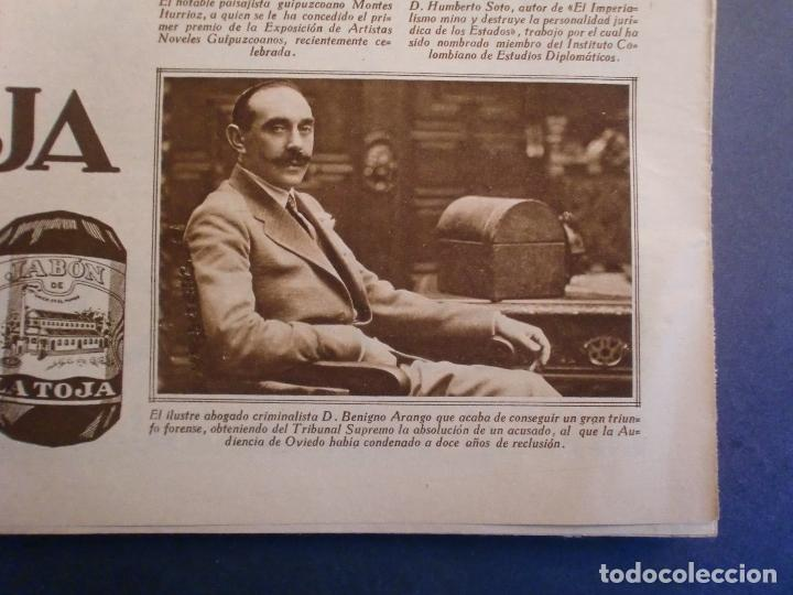 Coleccionismo: 09/10/1929 JABÓN LA TOJA - GABRIELA MISTRAL - MONTES ITURRIOZ - MADRID ATHLETIC FUTBOL - Foto 3 - 139710398