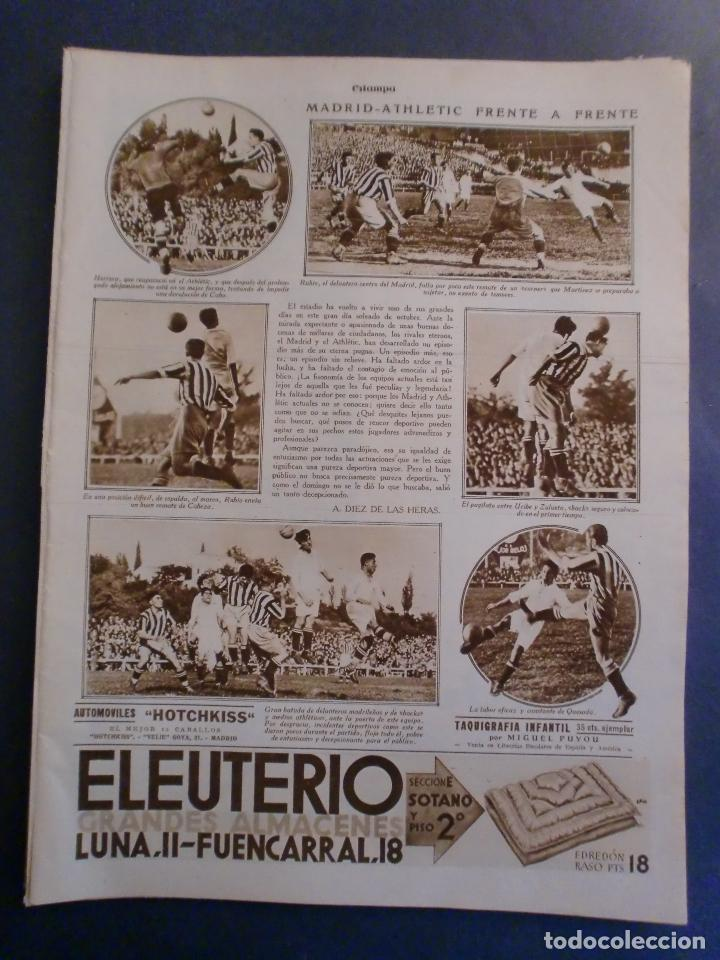 Coleccionismo: 09/10/1929 JABÓN LA TOJA - GABRIELA MISTRAL - MONTES ITURRIOZ - MADRID ATHLETIC FUTBOL - Foto 4 - 139710398