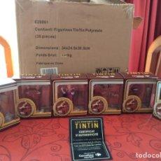 Coleccionismo: TINTÍN 6 FIGURAS COLECCIÓN COMPLETA CARREFOUR. Lote 139714354
