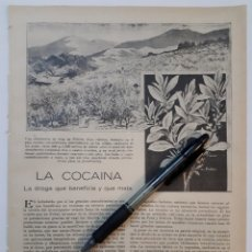 Coleccionismo: LA COCAINA LA DROGA QUE BENEFICIA Y QUE MATA / UNA VARIACIÓN DE POLO. 1922. Lote 139914425