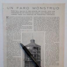 Coleccionismo: UN FARO MONSTRUOSO / LA PERINOLA DE PON Y SACA. 1922. Lote 139914933