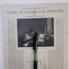 Coleccionismo: CÓMO SE CAZAN LOS INSECTOS II, FALENAS Y ESCARABAJOS / LA AMISTAD ENTRE LOS ANTIGUOS. 1922. Lote 139915912