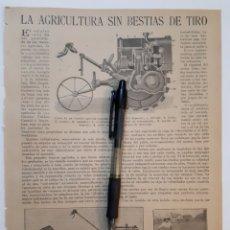 Coleccionismo: LA AGRICULTUR SIN BESTIAS DE TIRO/EL MUGUETE/ EL ÓRGANO DEL GUSTO/ALMEJAD QUE PRODUCEN PERLAS. 1922. Lote 139916088