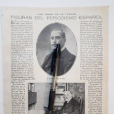 Coleccionismo: LOS ASES DE LA PRENSA. FIGURAS DEL PERIODISMO ESPAÑOL. 1922. Lote 139916205