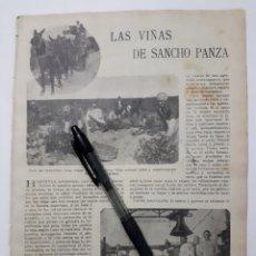 Coleccionismo: LAS VIÑAS DE SANCHO PANZA. 1922. Lote 140054398