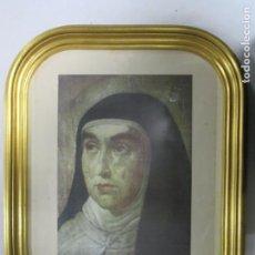 Coleccionismo: REPRODUCCIÓN DEL RETRATO AUTÉNTICO DE SANTA TERESA DE JESÚS. PROPIEDAD DE LA FAMILIA AHUMADA. Lote 140351770