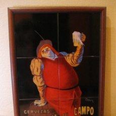 Coleccionismo: CUADRO COMPOSICIÓN AZULEJOS. CERVEZA LA CRUZ DEL CAMPO. CRUZCAMPO. SEVILLA 1904 . Lote 140499282