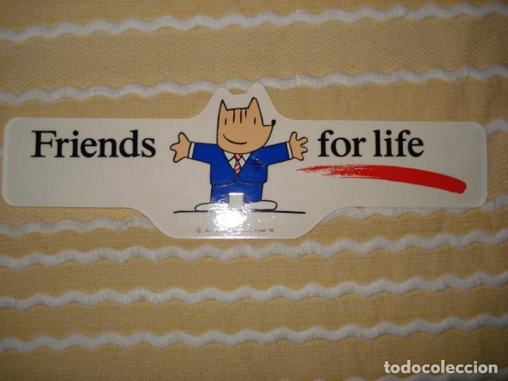 PEGATINA DE COBI MASCOTA DE LAS OLIMPIADAS DE BARCELONA 92 FRIENDS FOR LIFE (Coleccionismo - Varios)