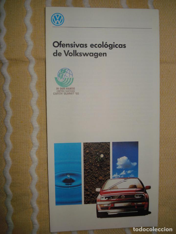FOLLETO VOLKSWAGEN, EXPO 92 SEVILLA (Coleccionismo - Varios)
