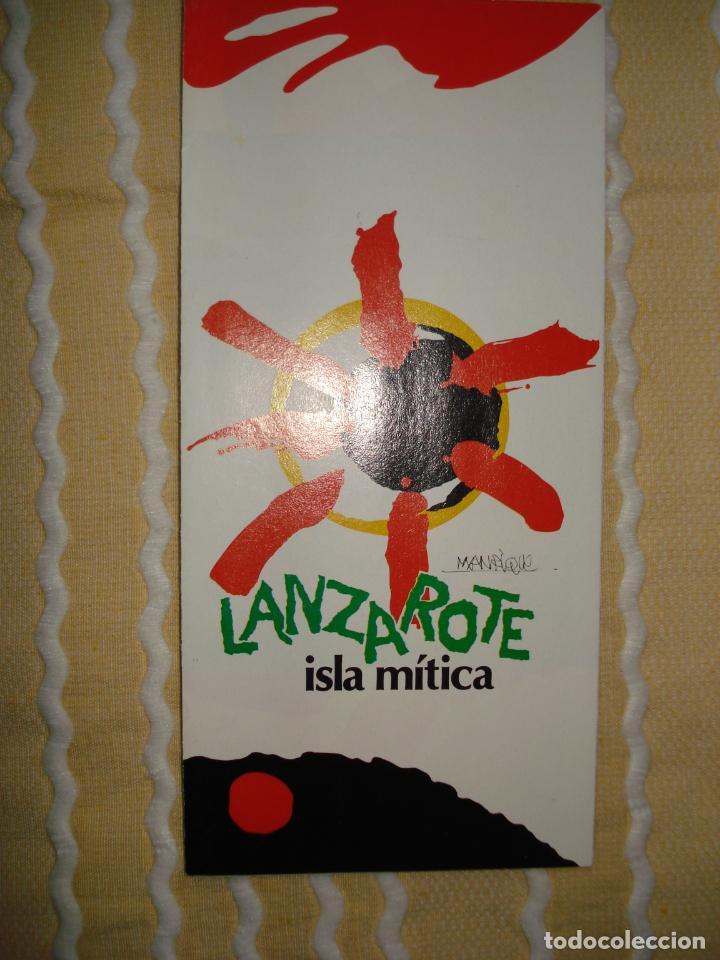FOLLETO LANZAROTE ISLA MITICA , EXPO 92 , SEVILLA. (Coleccionismo - Varios)
