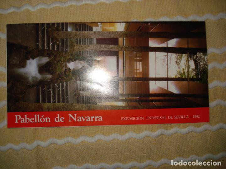 FOLLETO PABELLON NAVARRA, EXPO 92 SEVILLA (Coleccionismo - Varios)