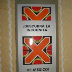 Coleccionismo: FOLLETO PABELLON MEXICO, EXPO 92 SEVILLA. Lote 140574974