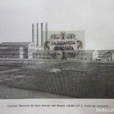 Coleccionismo: IMAGEN 1923 - CENTRAL TERMICA SAN ADRIAN DEL BESOS BARCELONA . Lote 140896742