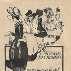 Coleccionismo: AÑO 1923 RECORTE PRENSA PUBLICIDAD BEBIDAS ANIS DEL MONO VICENTE BOSCH BADALONA. Lote 140902138