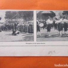 Coleccionismo: RECORTE IMAGEN MARAGATOS TIPICAS DANZAS TRAJES REGIONALES 1915 LEON. Lote 141469614